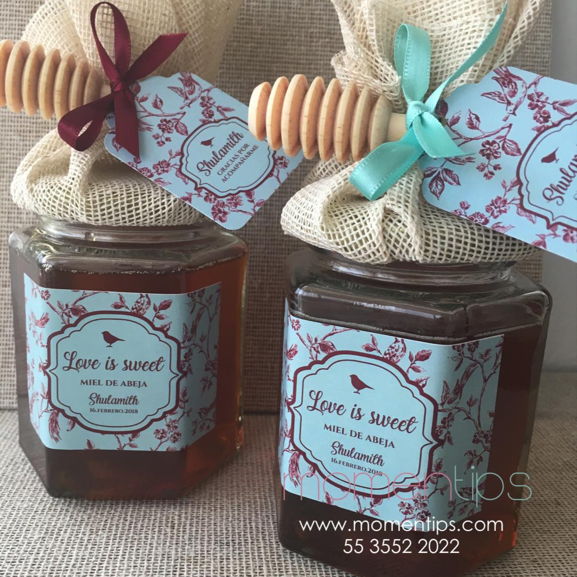 Frascos de miel para eventos