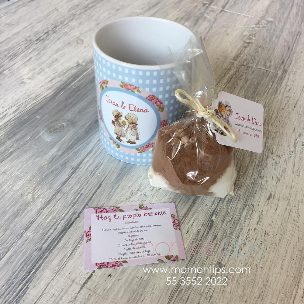 Tazas personalizadas receta brownie