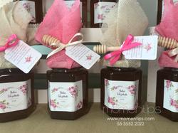 4 Miel rosa y beige