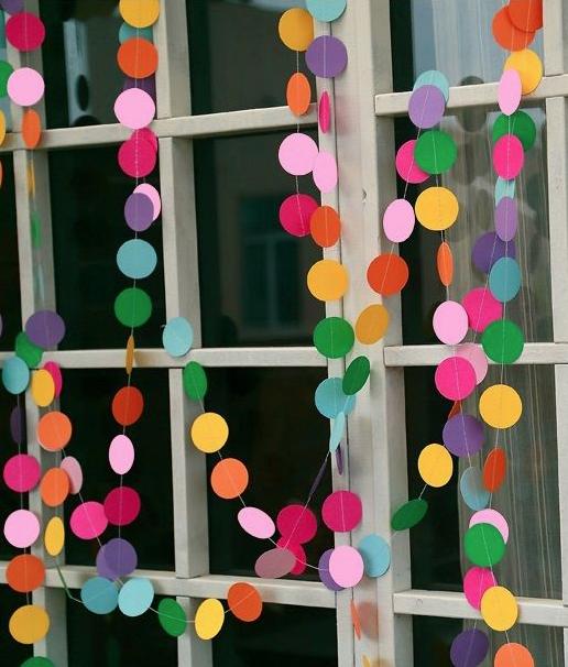 Guirnalda de círculos multicolor