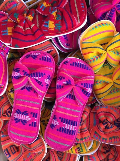 Pantuflas tipo mexicanas