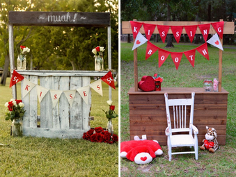 Un kissing booth para tu boda