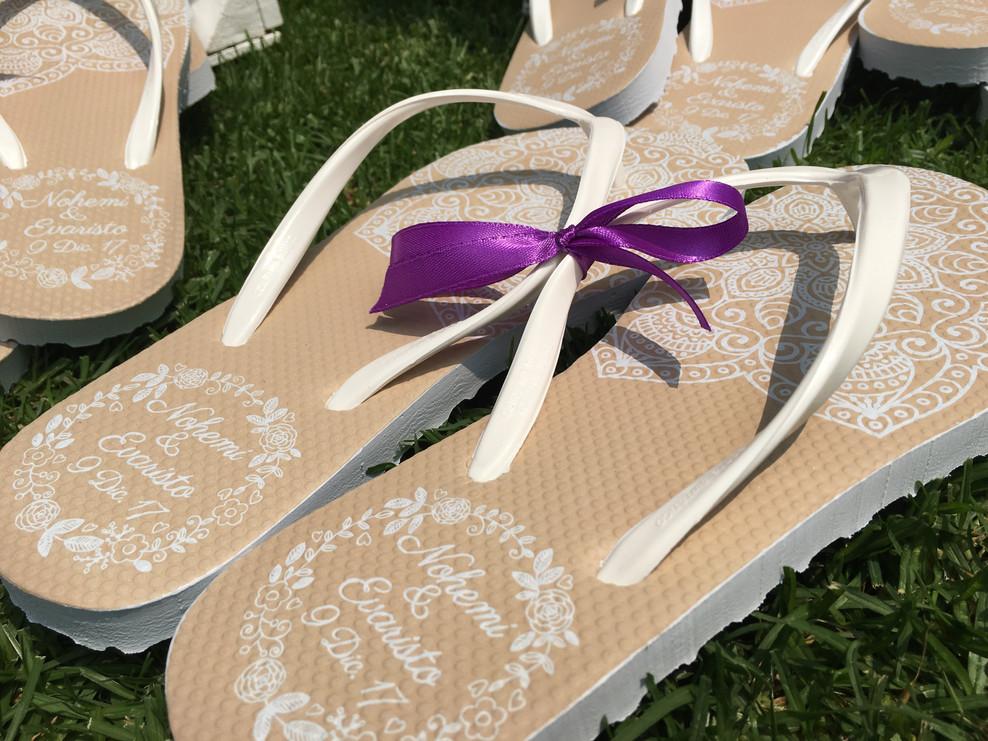 Sandalias personalizadas para eventos