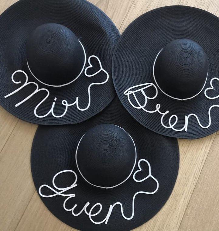 Sombreros playa bridesmaids