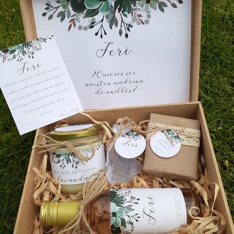 Cajas para bridesmaids