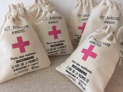 Kit anti cruda cruz rosa