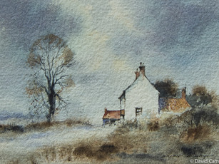 The White Cottage Watercolour Brian C Day 1977