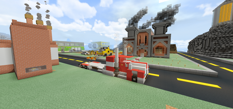Semi & Factory in the Industrial District