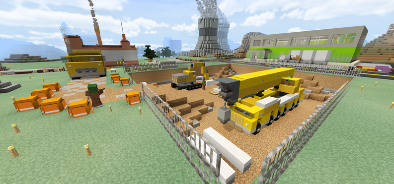 Construction Scene at Industrial District
