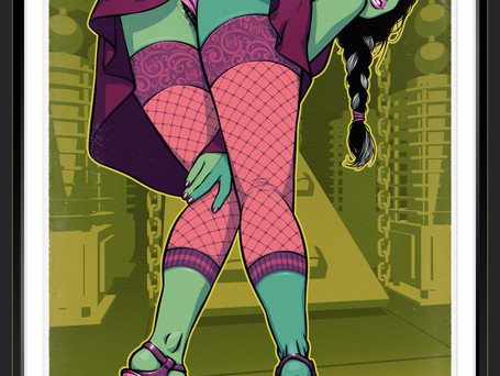 New pin-up: Elisabeth Shelley done !