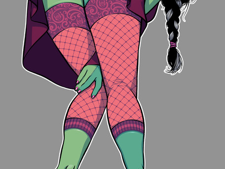 New pin-up: Elisabeth Shelley WIP step 3