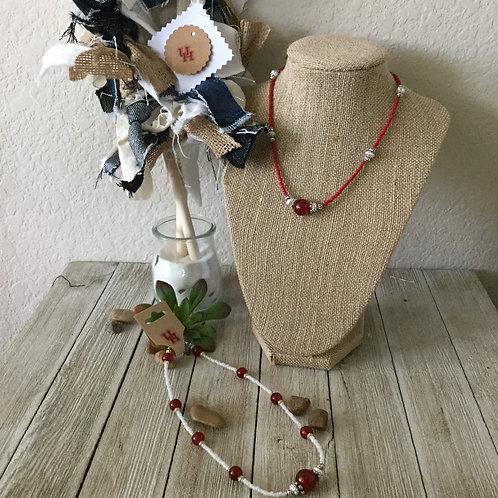 University of Houston Red/White Choker