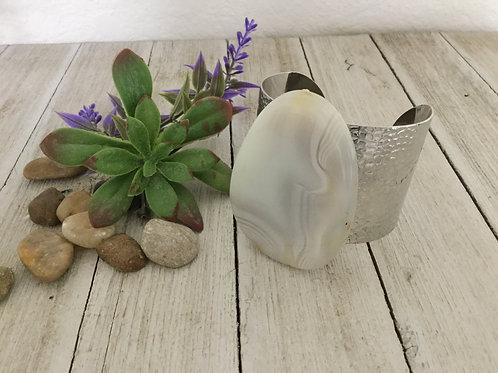 Natural Cream Stone Cuff Bracelet