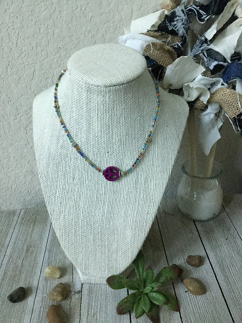 Purple Peace Necklace
