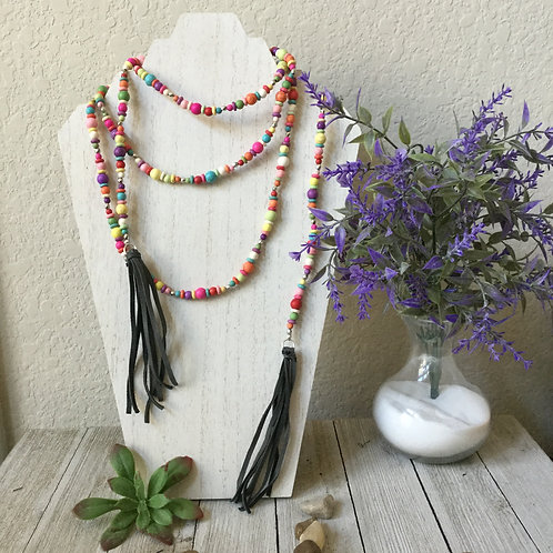 Rainbow Wrap Necklace