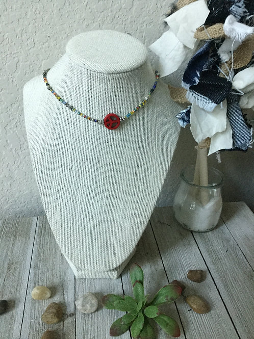 Red Peace Choker