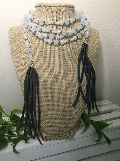 White Wrap Necklace