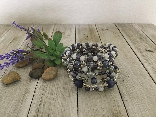 Lavender Delight 7-Ring Wrap Bracelet
