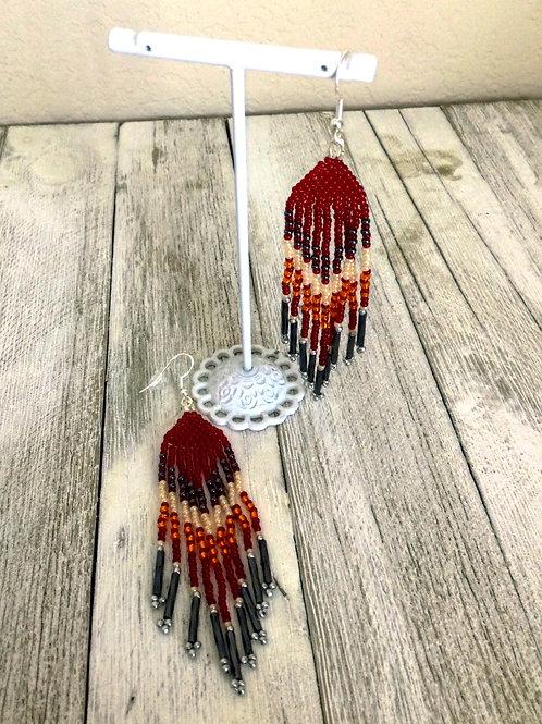 Burgundy Sunrise Earrings