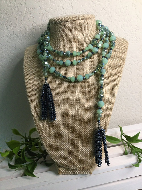 Sage Green Wrap Necklace
