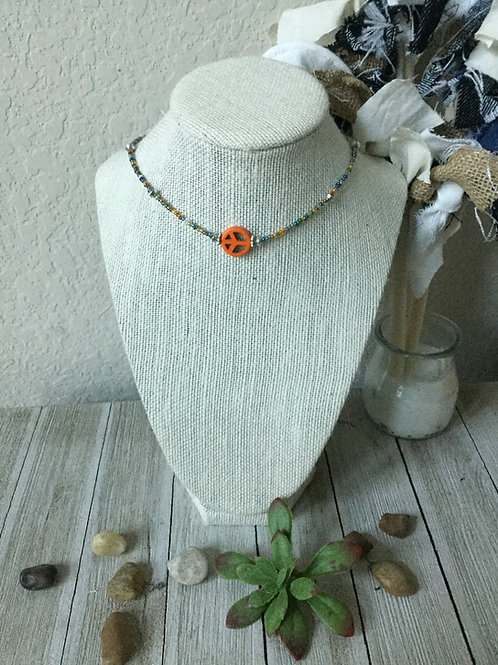 Orange Peace Choker