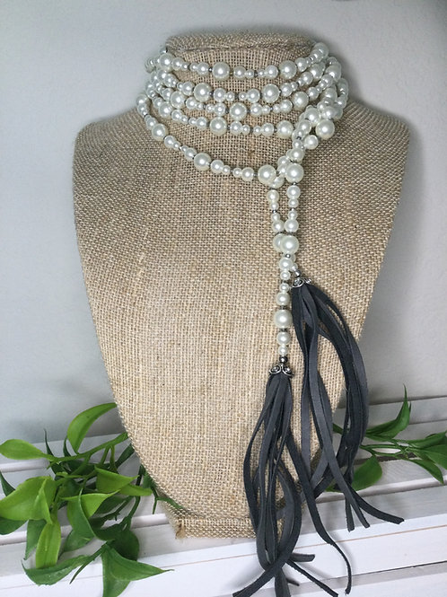 Ivory Pearl Wrap Necklace