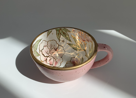 Goldy Flowers Mug