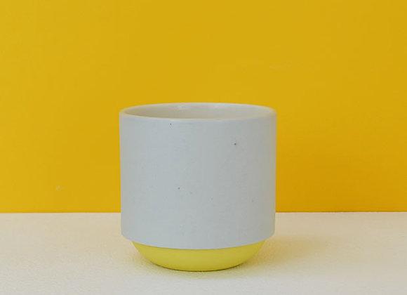 Grey & Yellow Coffee Mug