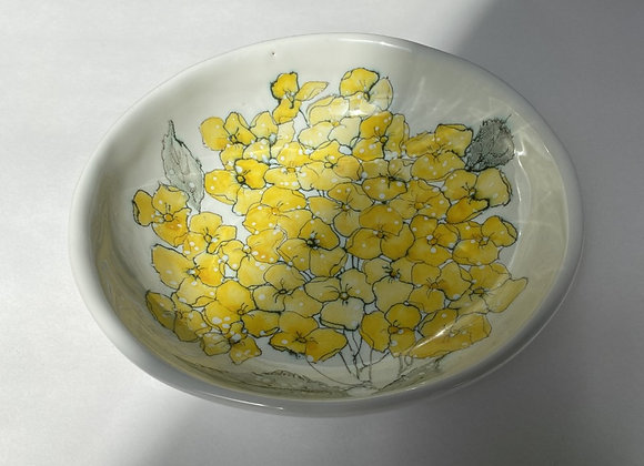 Yellow Orchids Bowl