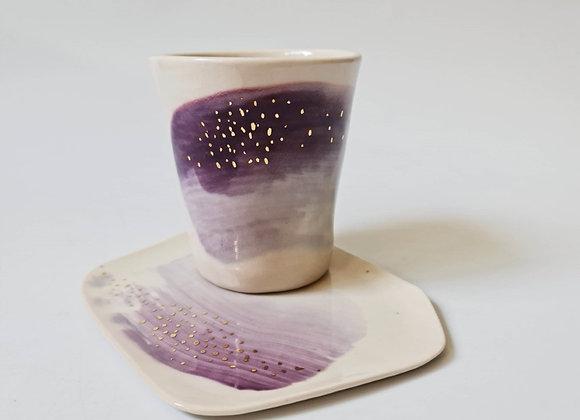 Constellations -  Mug+Saucer (Purple)
