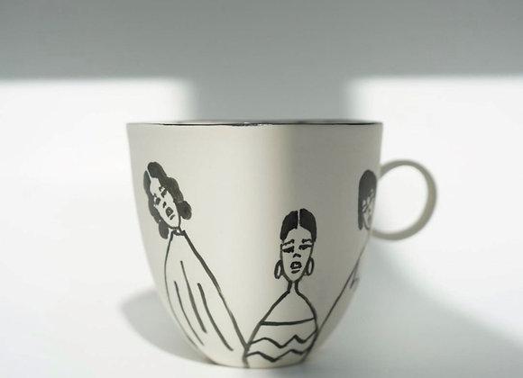Black & White Girls Mug