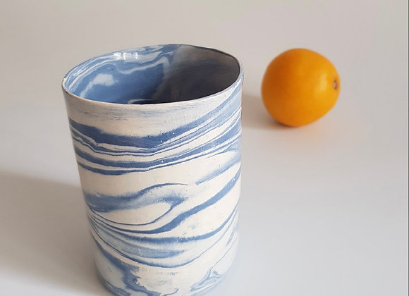 Blue Marbled Mug