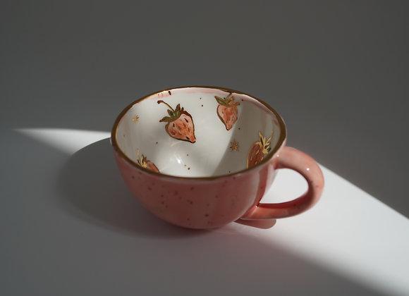 Pink Strawberry Mug