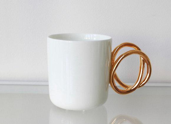Twist Mug with Gold Handle