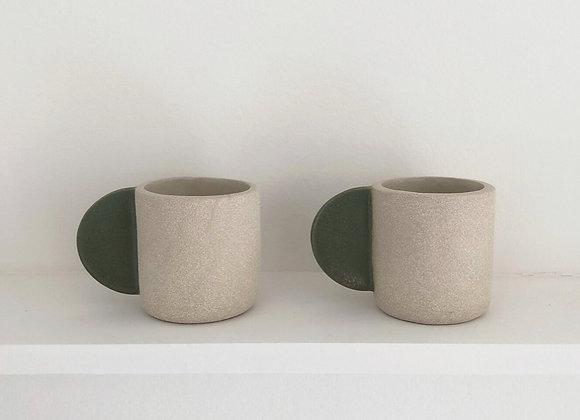 Green handle Mug