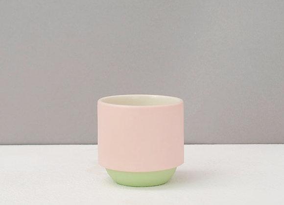Pink & Green Espresso Coffee Mug