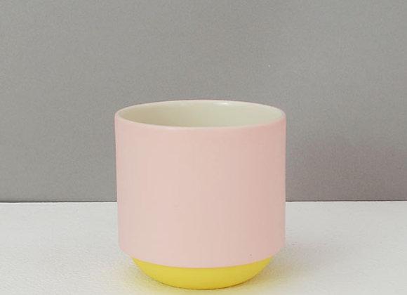 Pink & Yellow Espresso Coffee Mug