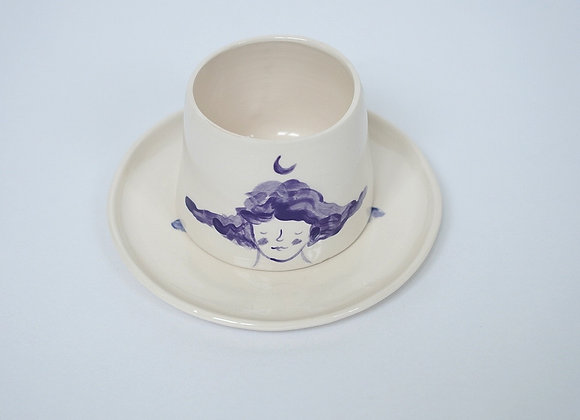 Blue Moon Mug + Saucer