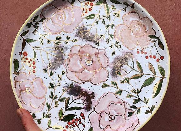 Peony Flower Plate