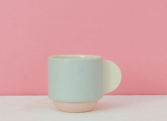 Grey & Pink Espresso Coffee Mug