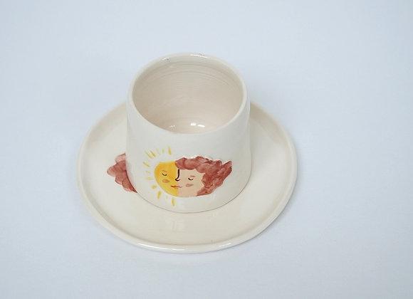 Sun Mug + Saucer