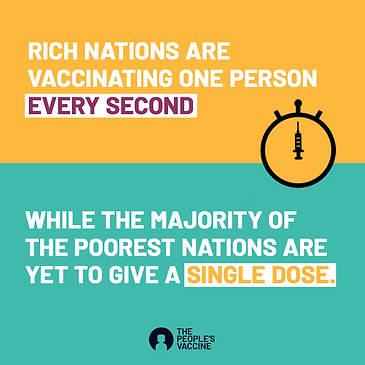 rich nations vaccinate 1 person every se
