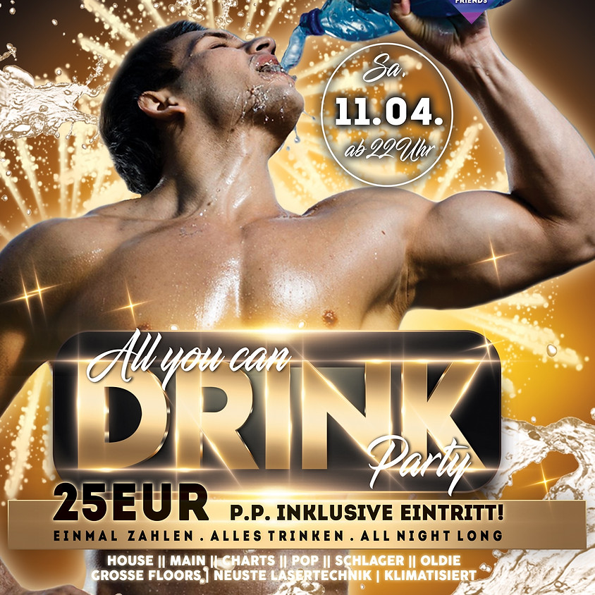 All you can drink party ● 25EUR ● 11.04.