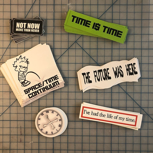 """It's About Time!"" Sticker Pack"