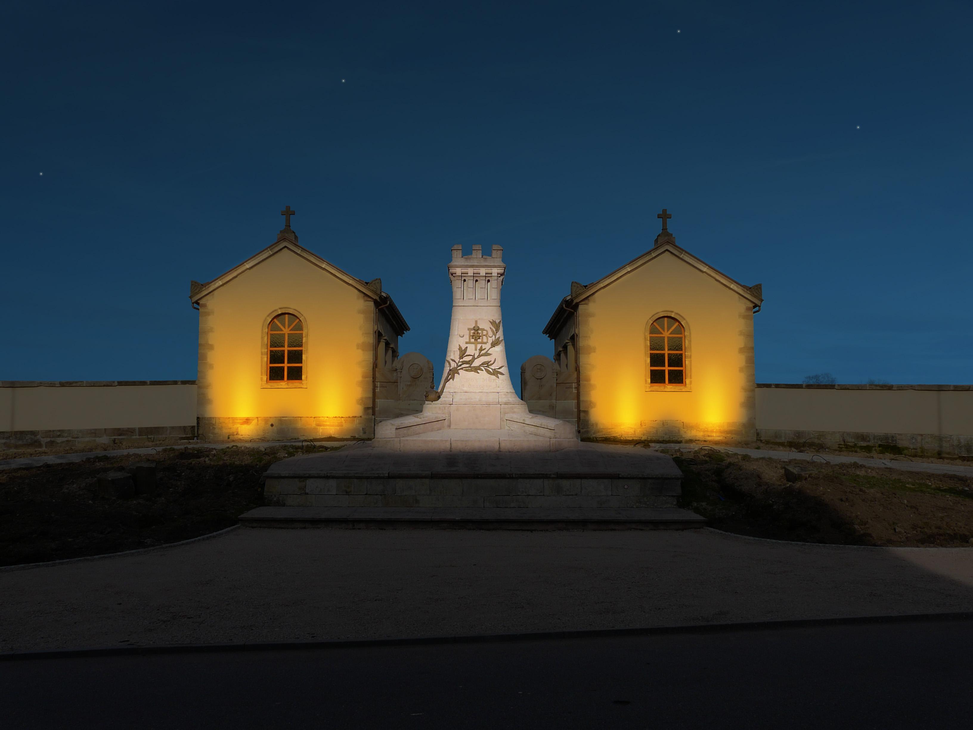 Plan lumière / Monument Résistance