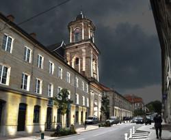 MEV projetée /Abbatiale Saint-Nabor