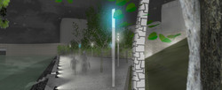 MEV projetée / Escalier du square