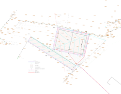 Plan projeté du terrain de football
