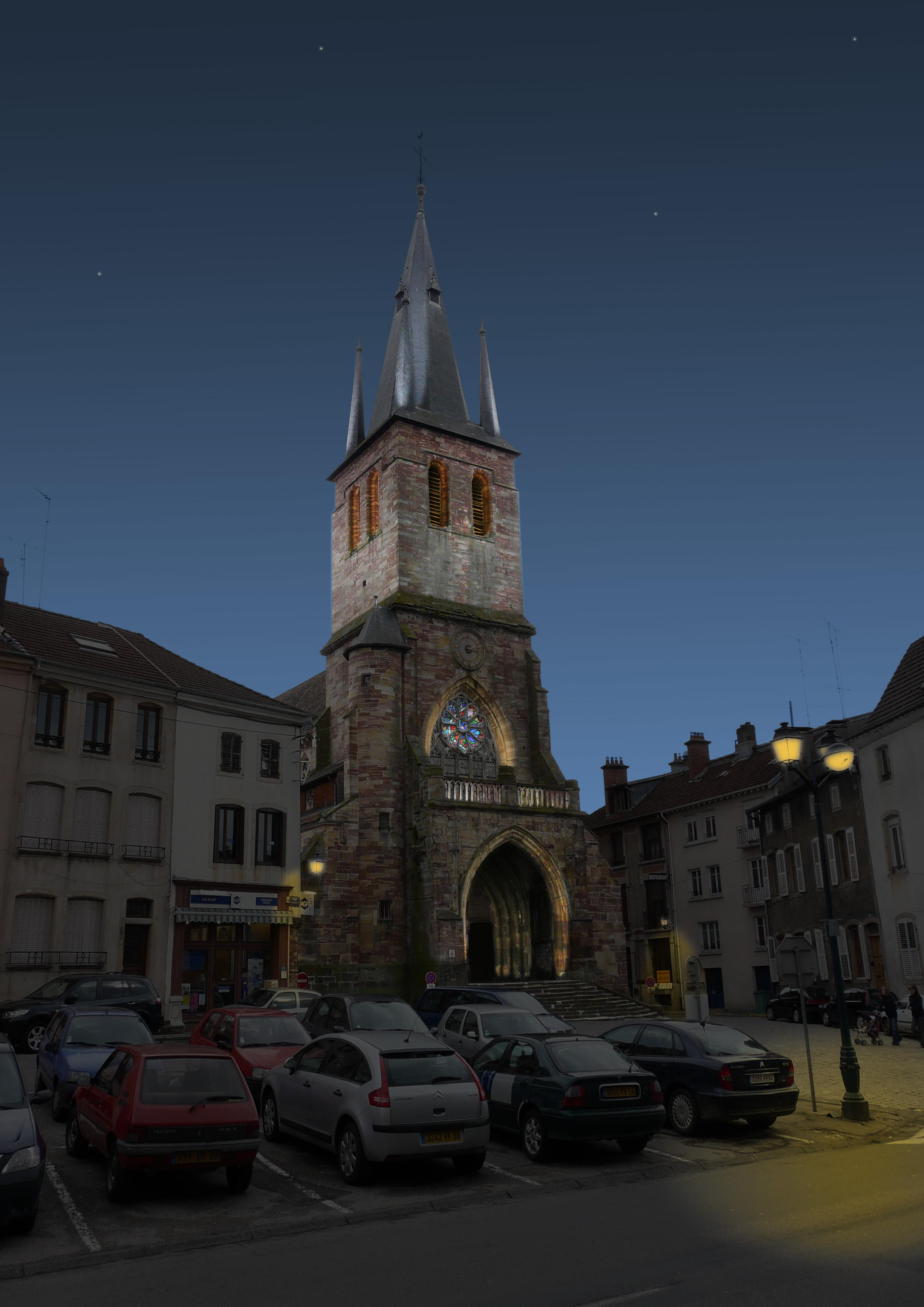 Plan lumière / Église Sainte Libaire