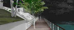 MEV projetée/ Escalier du Lycée